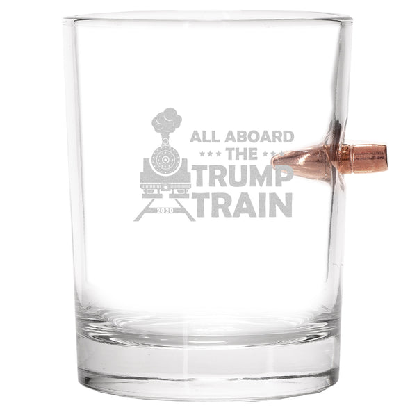 .308 Bullet Whiskey Glass - All Aboard The Trump Train
