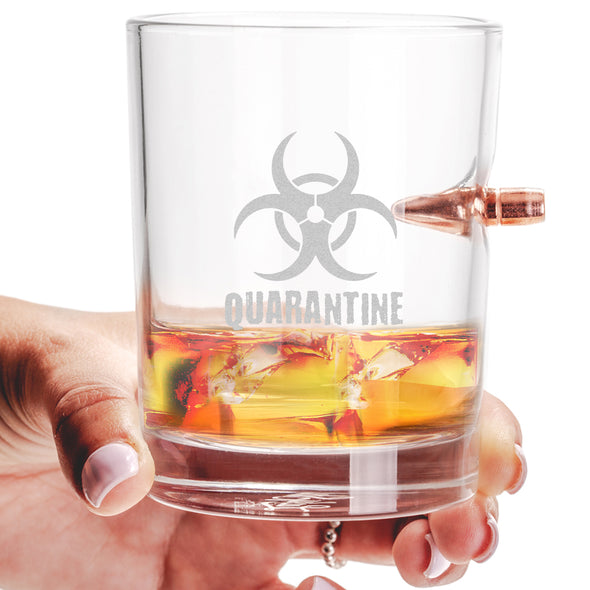 .308 Bullet Whiskey Glass - Biohazard Quarantine