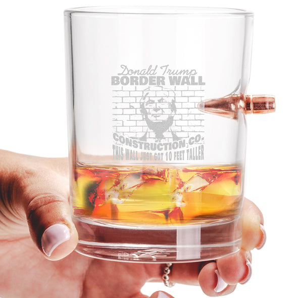 .308 Bullet Whiskey Glass - Border Wall Construction Co