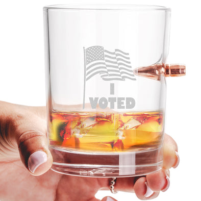 .308 Bullet Whiskey Glass - I Voted
