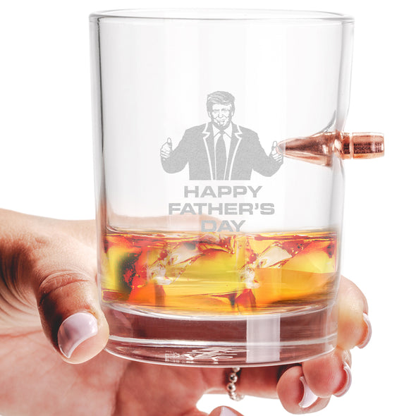 .308 Bullet Whiskey Glass - Happy Father's Day