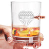 .308 Bullet Whiskey Glass - Heart Trump - Stars and Stripes
