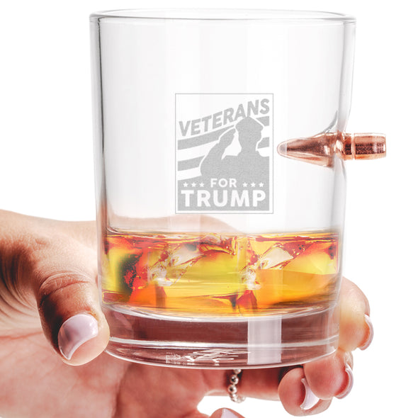 .308 Bullet Whiskey Glass - Veterans For Trump