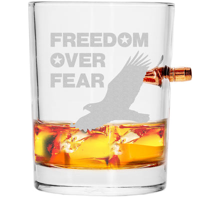 .308 Bullet Whiskey Glass - Freedom over Fear – Eagle