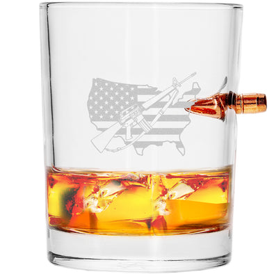 .308 Bullet Whiskey Glass - Gun America