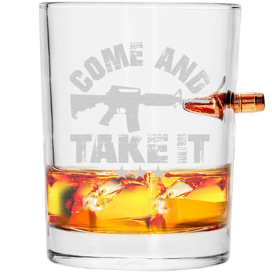 .308 Bullet Whiskey Glass - Come and Take it
