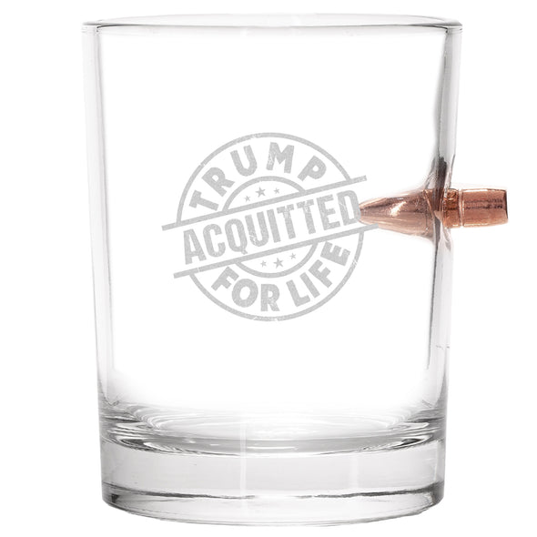 .308 Bullet Whiskey Glass - Trump Acquitted for Life