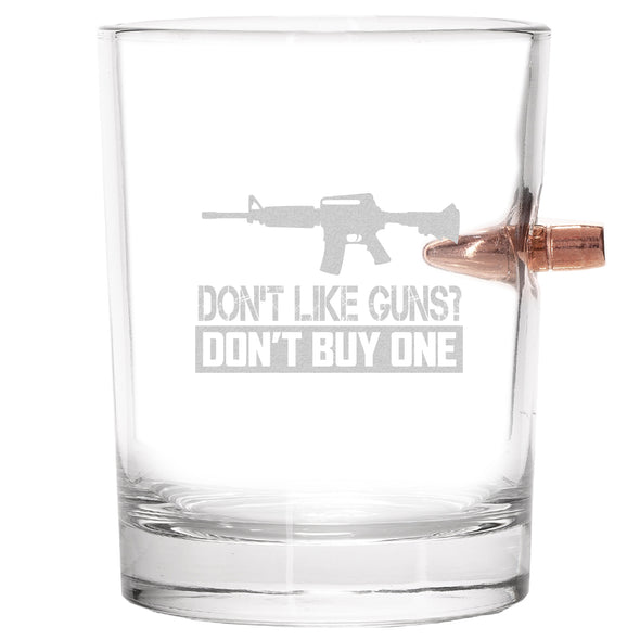 .308 Bullet Whiskey Glass - Don't Like Guns? Don't Buy One