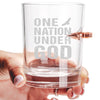 .308 Bullet Whiskey Glass - One Nation Under God