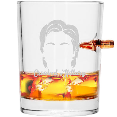 .308 Bullet Whiskey Glass - Crooked Hillary