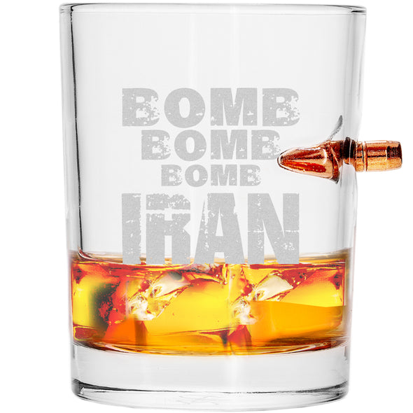 .308 Bullet Whiskey Glass - Bomb Bomb Bomb Iran
