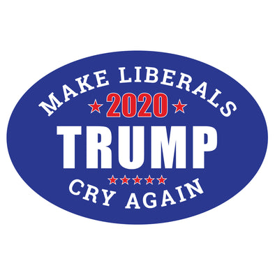 Make Liberals Cry Again Car 6x4 Oval Magnet