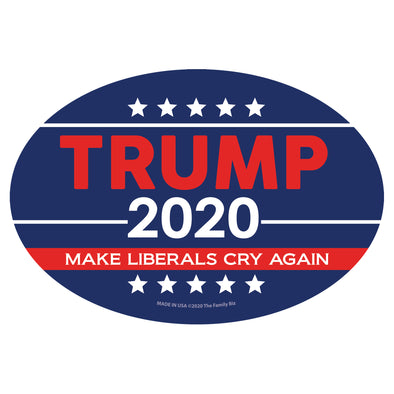 Trump 2020 Make Liberals Cry Again 6x4 Oval Magnet