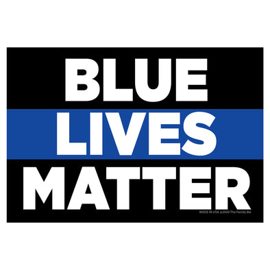 Blue Lives Matter Words 6x4 Rectangle Magnet