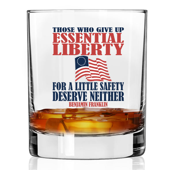 Whiskey Glass - Those Who Give Up Essential Liberty