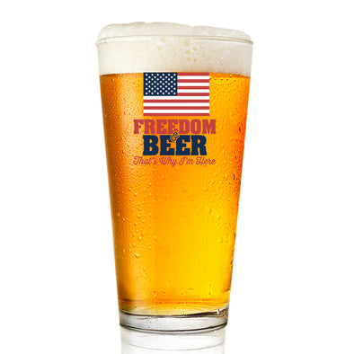 Pint Glass - Freedom & Beer