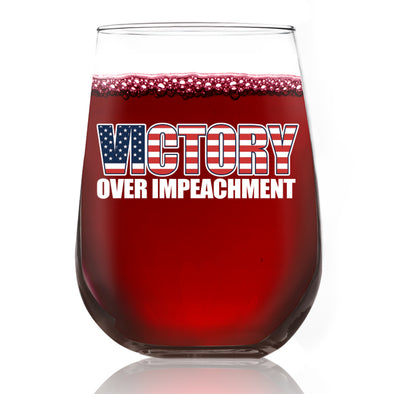 Wine Glass - Victory over Impeachment - Color