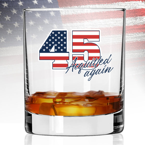 Whiskey Glass - 45 Acquitted Again - Color