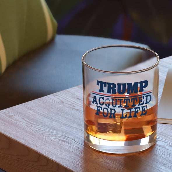 Whiskey Glass - Trump Acquitted for Life - Color