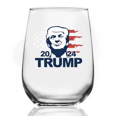 Wine Glass - Trump 2024 Portrait - Color