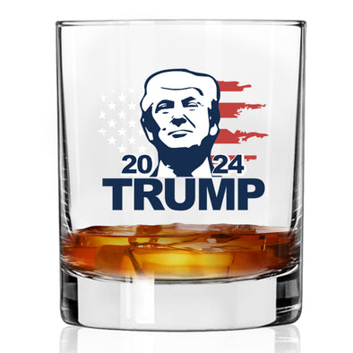 Whiskey Glass - Trump 2024 Portrait - Color