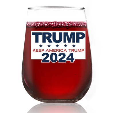 Wine Glass - Trump 2024 Keep America Trump - Color