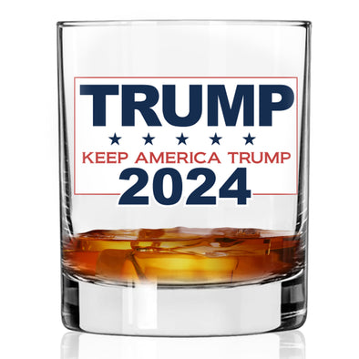 Whiskey Glass - Trump 2024 Keep America Trump - Color