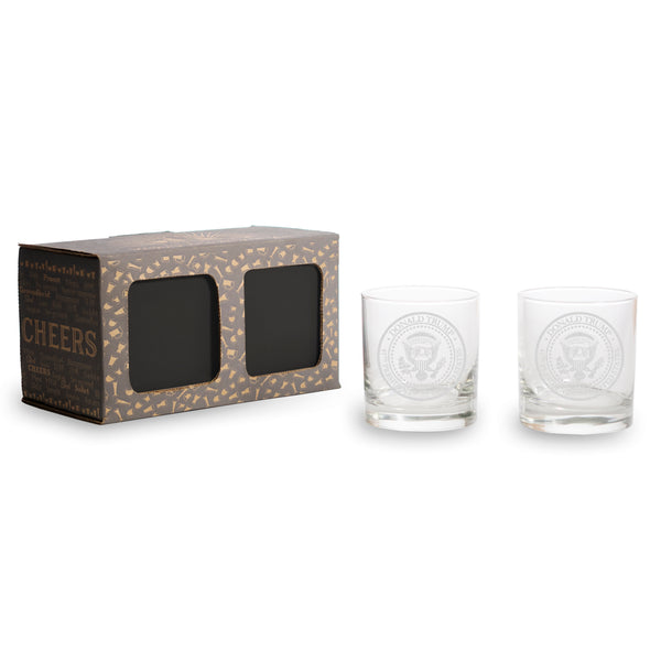 Trump Presidential Seal - 2 and 4 Pack Whiskey Glasses