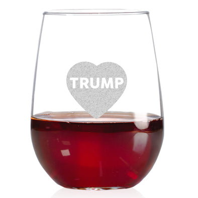 Wine Glass - Heart Trump