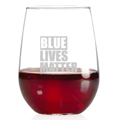 Wine Glass - Blue Lives Matter