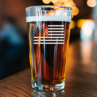 Pint Glass - Standard USA Flag