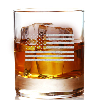 Whiskey Glass - Standard USA Flag
