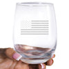 Wine Glass - Standard USA Flag