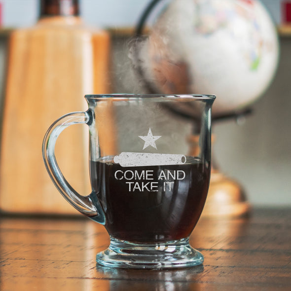 Glass Mug - Come and Take It Cannon