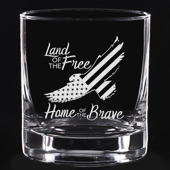 Whiskey Glass - Eagle Land of the Free Home of the Brave