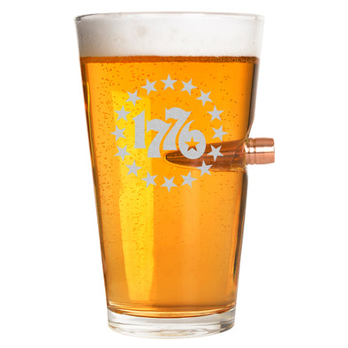 .50 Cal Bullet Pint Glass - 1776