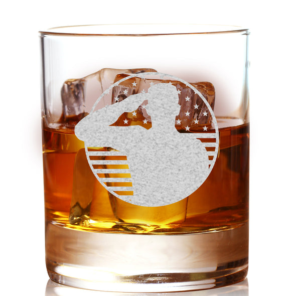 Whiskey Glass - Soldier Patriotic
