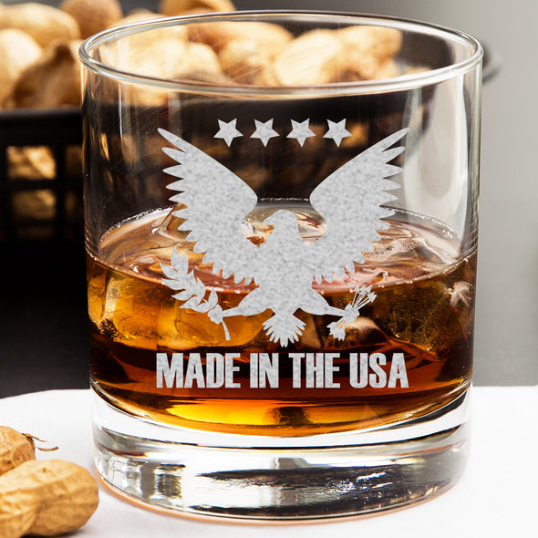 Whiskey Glass - Made in the USA Eagle