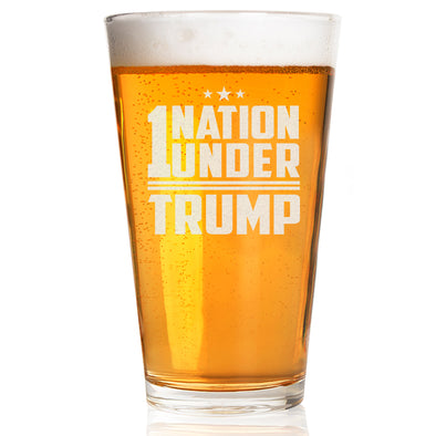 Pint Glass - 1 Nation Under Trump