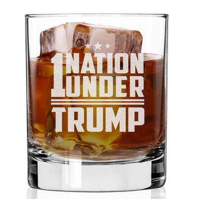 Whiskey Glass - 1 Nation Under Trump