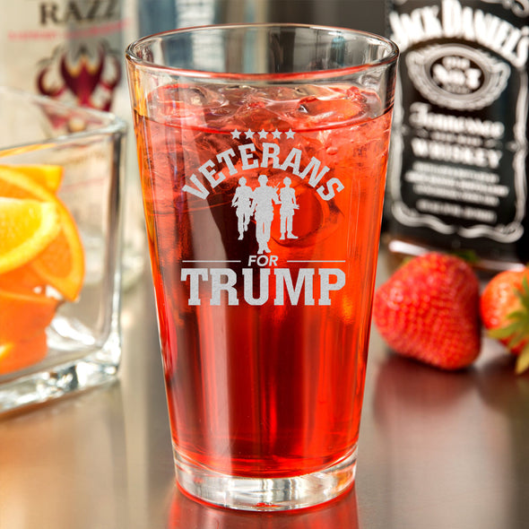Pint Glass - Veterans for Trump Soldier