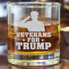 Whiskey Glass - Veterans for Trump Soldier