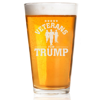Pint Glass - Veterans for Trump Soldier Group