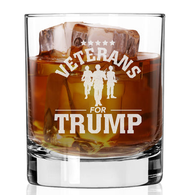 Whiskey Glass - Veterans for Trump Soldier Group