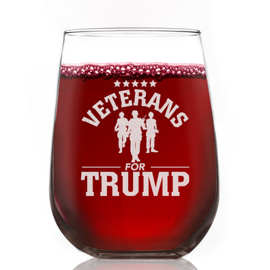 Wine Glass - Veterans for Trump Soldier Group