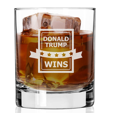 Whiskey Glass - Donald Trump Wins