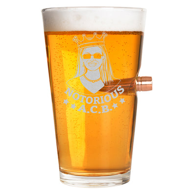 .50 Cal Bullet Pint Glass - Notorious ACB