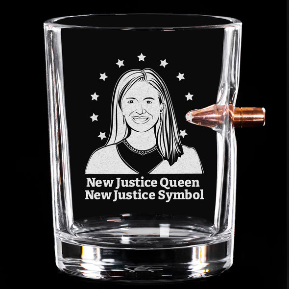 .308 Bullet Whiskey Glass - New Justice Queen, New Justice Symbol