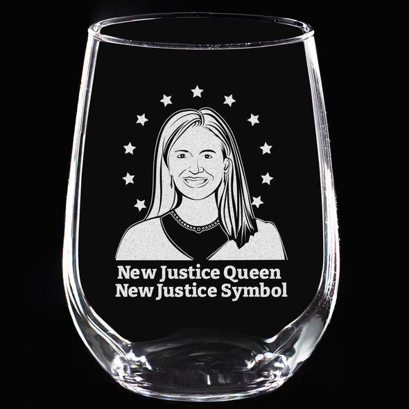 Wine Glass - New Justice Queen, New Justice Symbol