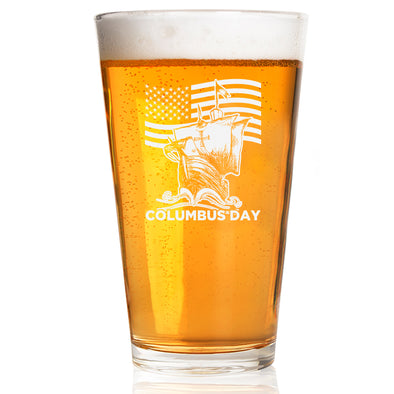 Pint Glass - Patriotic Columbus Day